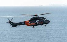 Un hélicoptère Super Puma des forces aériennes helléniques (crédit : armée de lair grecque)