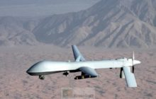 Un drone MQ-1 Predator de l'US Air Force, décembre 2008 (Crédit : U.S. Air Force photo/Lt Col Leslie Pratt)