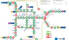 La carte de la fermeture des stations de métro, plusieurs jours après les attentats