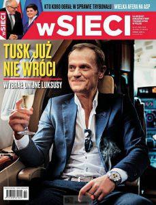 Une image truquée de Tusk à la une d'un magazine polonais