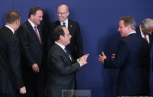 David Cameron et François Hollande au Sommet européen