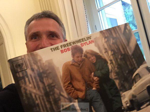 Un fan de Bob Dylan (crédit : Jens Stoltenberg / twitter)