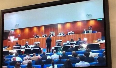 JM Barroso devant le tribunal de Luxembourg (crédit : G. Pastor)