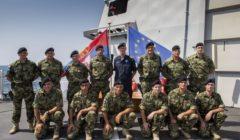 Léquipe serbe de protection maritime ou VPD (crédit : EUNAVFOR Atalanta)