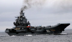 Le porte-avions (Crédit : marine russe, avril 2014)