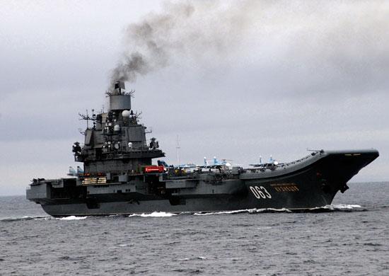 La présence de l'amiral Kuznetsov en Méditerranée : normal ou non ? Le ravitaillement par l'Espagne : légal ?
