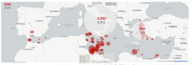 Le taux de décès multiplié par trois en Méditerranée (maj)