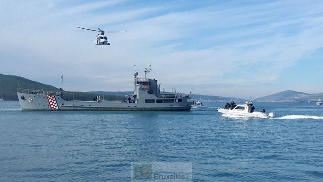Exercice grandeur nature pour les gardes côtes européens au large de Split