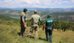 garde-frontières sur la frontière bulgare (Crédit : Frontex)