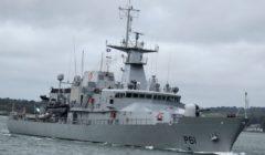 le samuel beckett de la marine irlandaise engagé en Méditerranée (crédit : MAE Irlande)