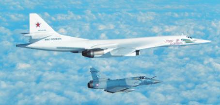 Deux bombardiers russes interceptés par la chasse française