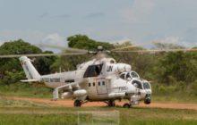 Intervention aérienne de la MINUSCA à Bambari