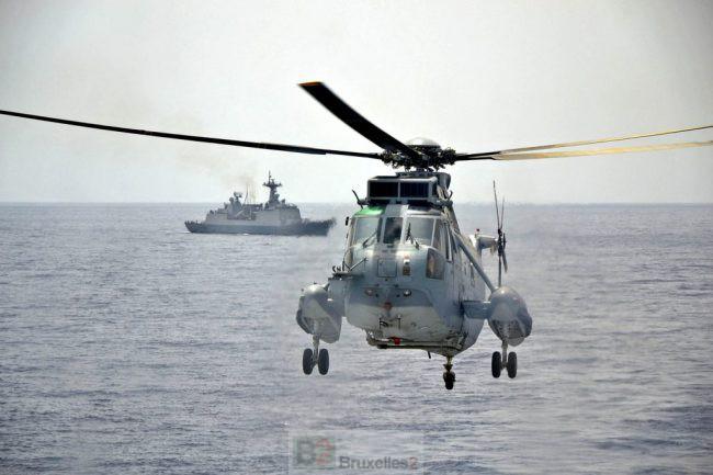Opération anti-piraterie dans l'Océan indien. Un navire coréen passe sous pavillon européen