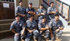 Une équipe de VPD monténégrins à bord du navire du PAM