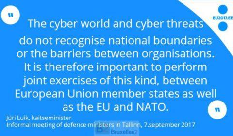 A Tallinn, les ministres jouent à la guerre cyber hybride (V2)