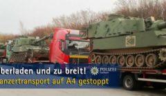Allemagne. Des chars US pris en flagrant délit de non respect du code de la route. La police intervient