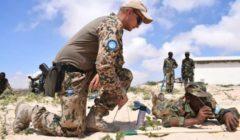 Premier cours de génie anti-IED pour l'armée somalienne à Mogadiscio