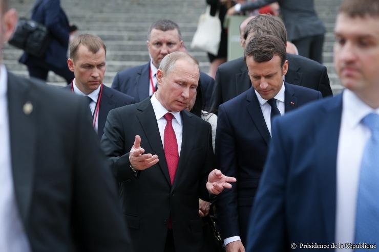 Macron s'est entretenu avec Poutine sur la Syrie