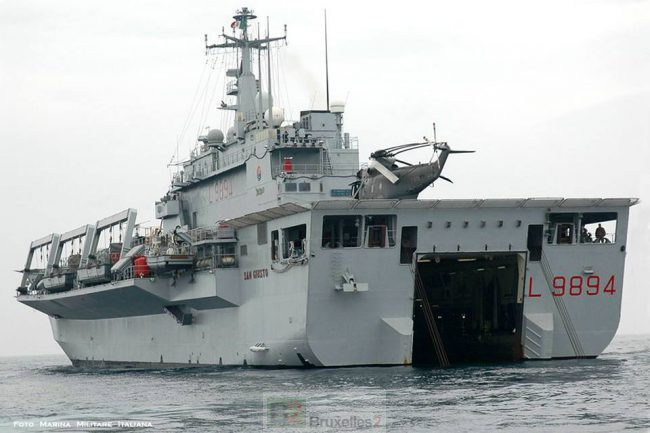 Nouveau navire amiral pour l'opération Sophia
