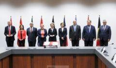 (B2 Pro) Huit pays adhèrent à l'initiative européenne d'intervention d'E. Macron. La lettre d'intention signée