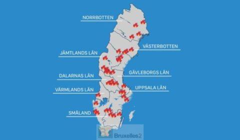 Les feux font rage en Suède. Le plan bleu déclenché. Des canadairs français arrivent (V2)