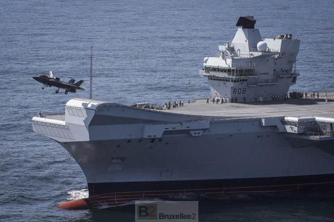 Le F35 apponte et décolle du Queen Elizabeth