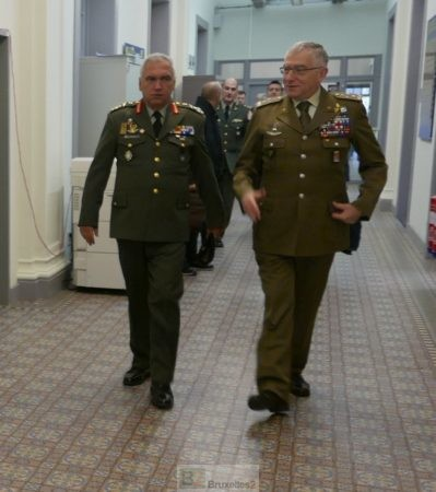 Passation de commandement à la tête du comité militaire de l'UE
