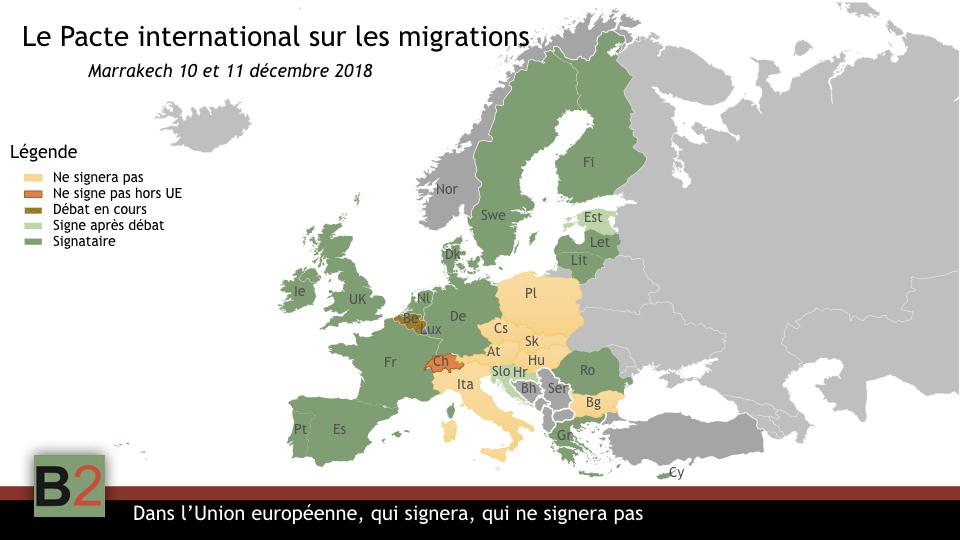 Qui signera, qui ne signera pas le pacte des migrations au sein de l'UE ? Et au-delà
