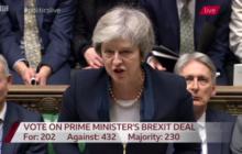(B2 Pro) La Chambre des Communes vote Non. Le risque d'un retrait désordonné augmente, avertit Juncker