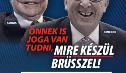 Entre Juncker et Orban, la guerre des affiches (V2)