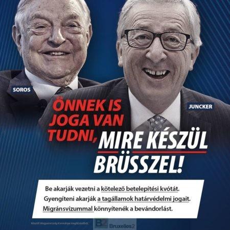 Entre Juncker et Orban, la guerre des affiches