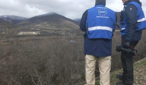 Patrouille avec EUMM à la «frontière» entre la Géorgie et l'Ossétie du Sud