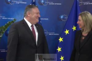 Mike Pompeo se prend une veste à Bruxelles. Les Européens résistent au lobbying US. Jusqu'à quand ?