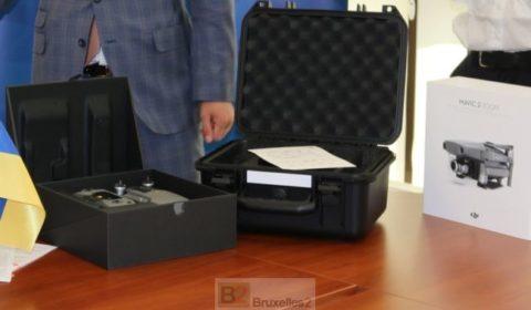 La police d'Odessa équipée par l'UE d'un drone tactique. Celle de Kirovohrad dotée en équipements