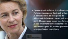 (B2 Pro) Ursula von der Leyen met sa démission de MinDef dans la balance pour emporter les voix de sa majorité