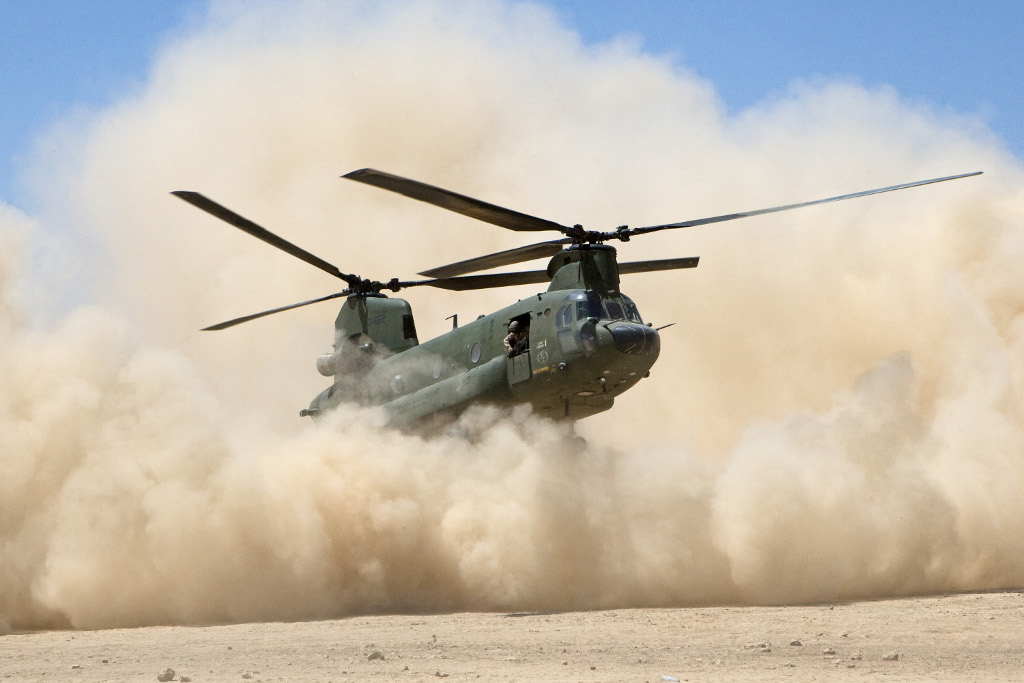 Un Chinook CH-47D hollandais (© EMFA/Hotblade 2012)