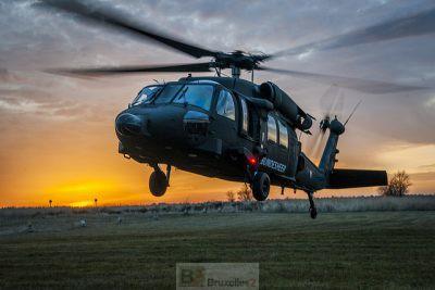 Décollage d'un hélicoptère