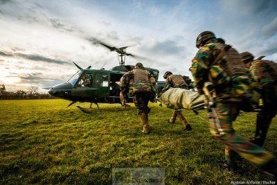 Evacuation médicale (crédit : EDA)