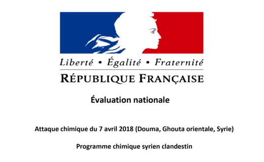 Attaque chimique de Douma. La France publie un dossier à charge contre le régime syrien - B2 Le blog de l'Europe politique