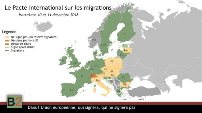 Qui signera, qui ne signera pas le pacte des migrations au sein de l